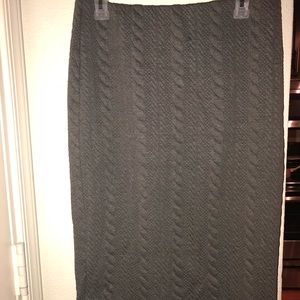 Gray woollike pencil skirt